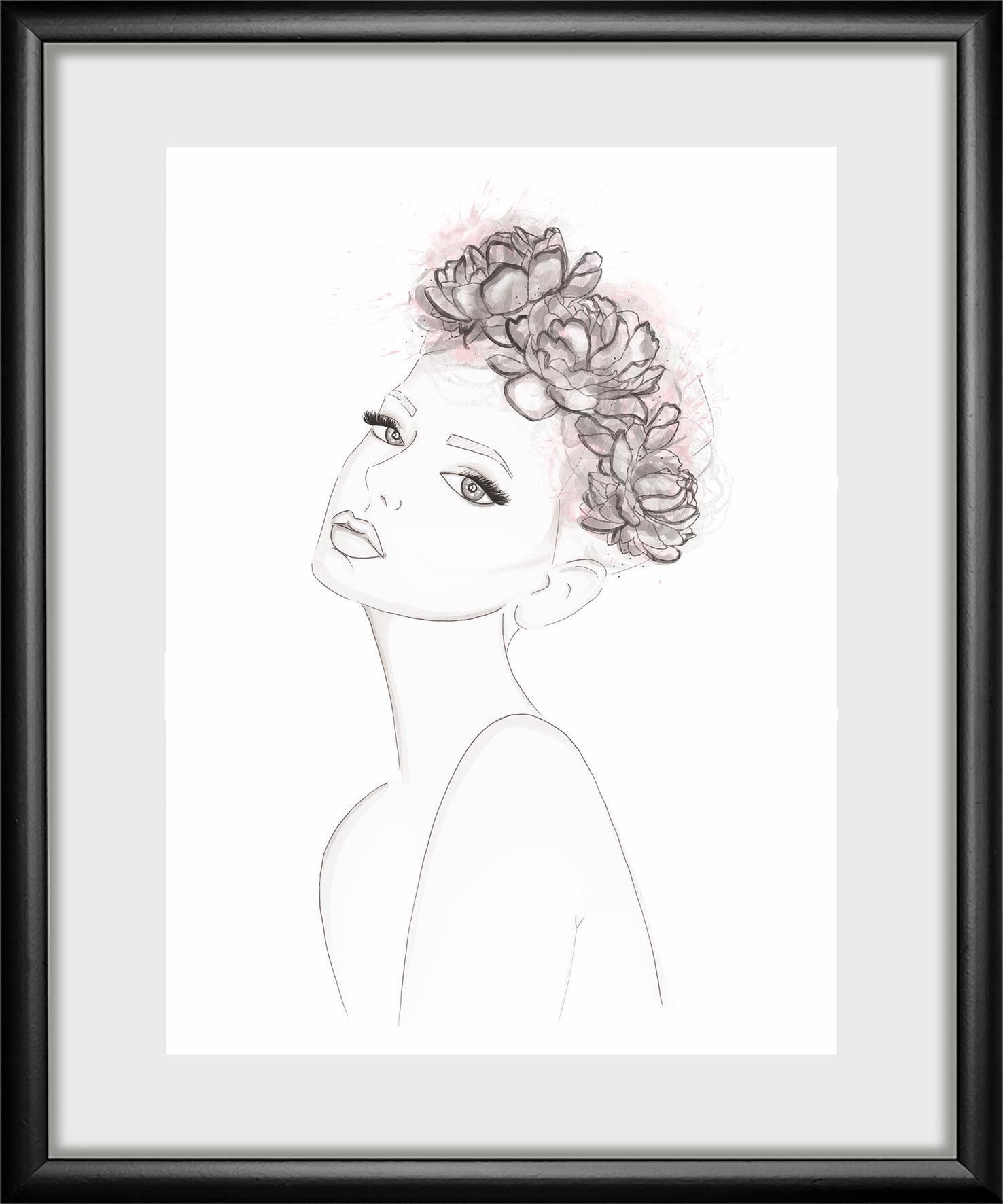 Rahmenbild »Girl« 30/40 cm