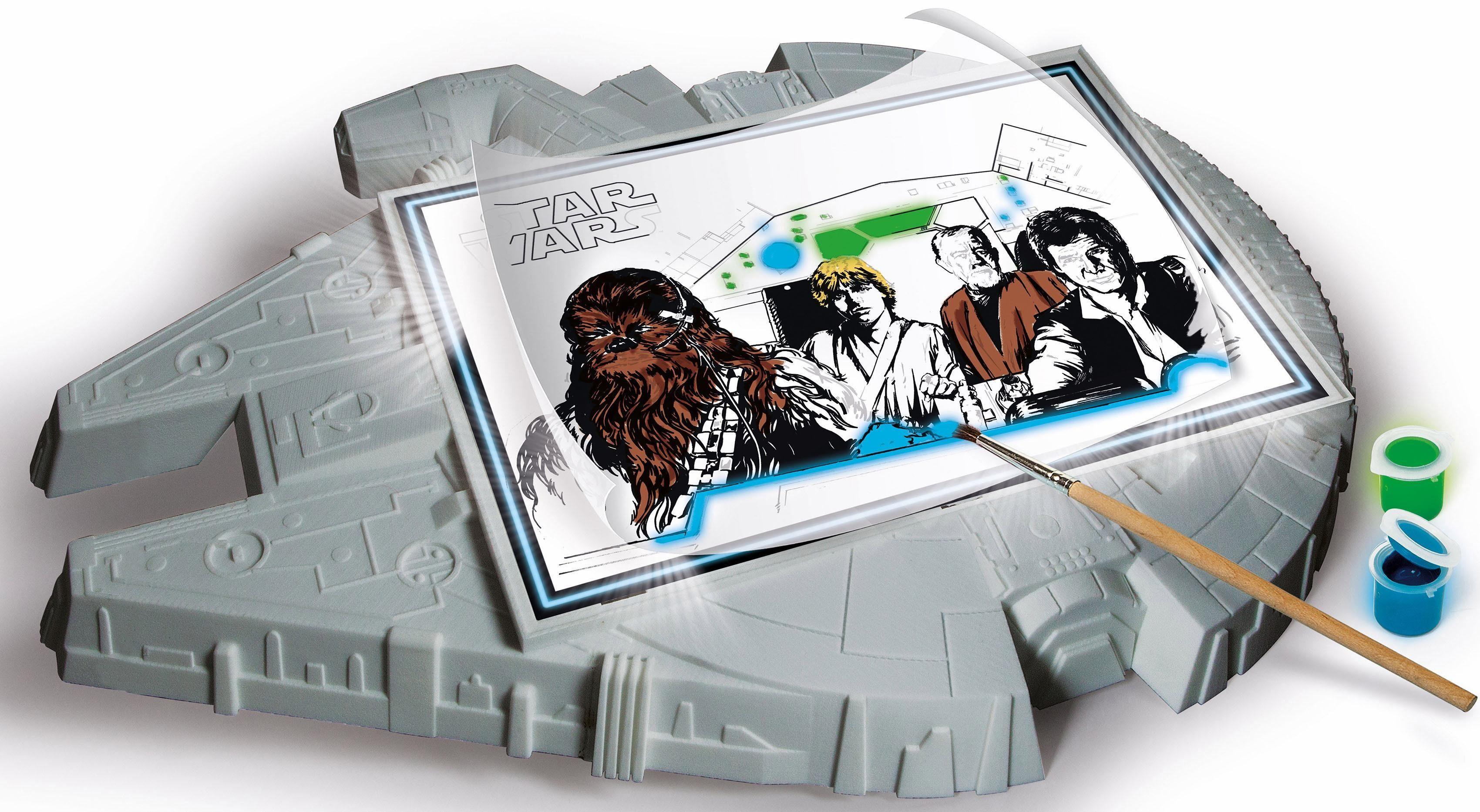 Clementoni Maltafel, »Disney Star Wars™, Beleuchtete Zeichentafel«