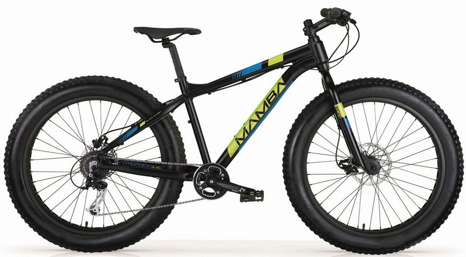 mbm fatbike black mamba 9 gang shimano alivio t 4000. Black Bedroom Furniture Sets. Home Design Ideas