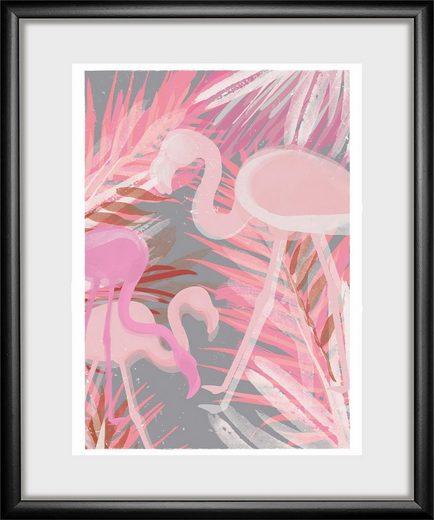 Bild »Flamingo«, Tiermotiv, 30/40 cm, gerahmt