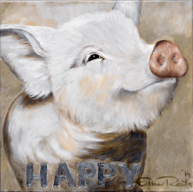 Leinwandbild »Schwein«, Tiermotiv