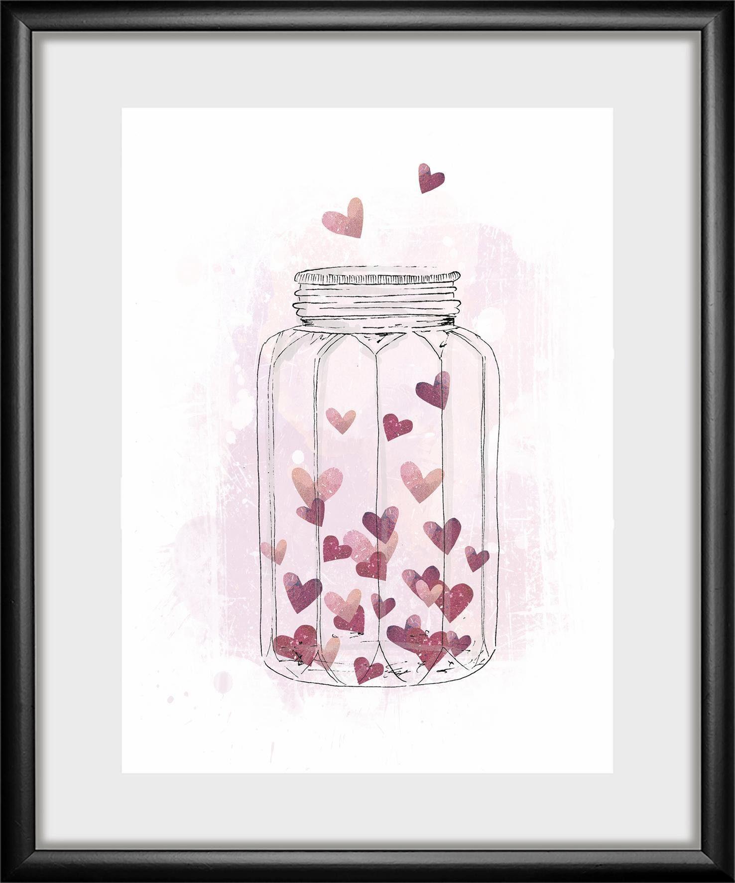 Rahmenbild »Heart« 30/40 cm