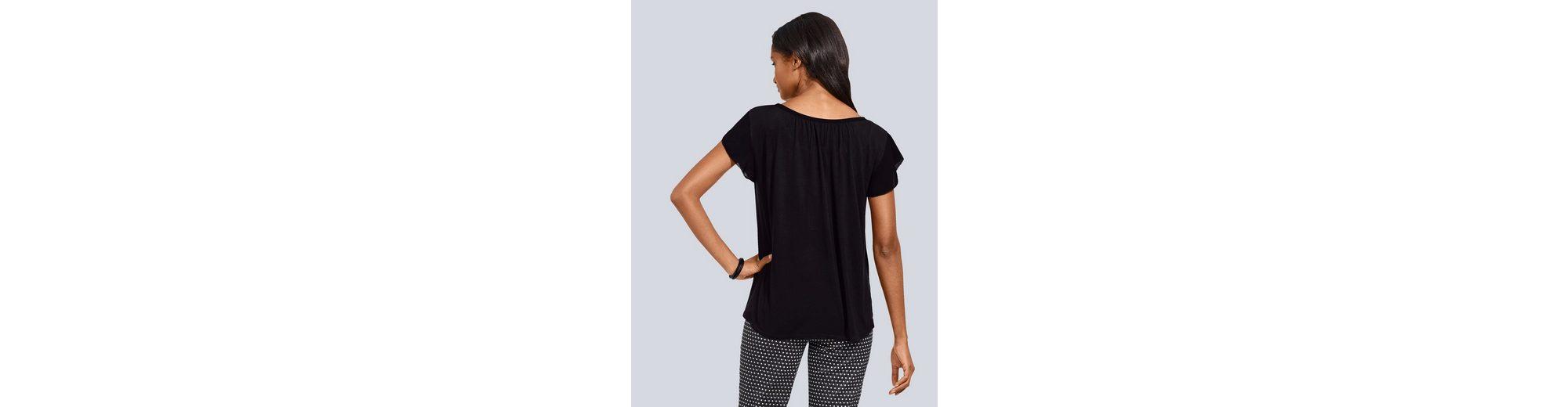 Rabatt Breite Palette Von Outlet-Store Online Alba Moda Shirt mit Serafino-Ausschnitt T4THNaaALx