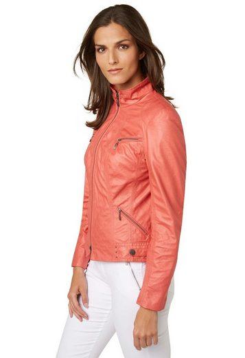 Bonita Jacke im Leder-Look