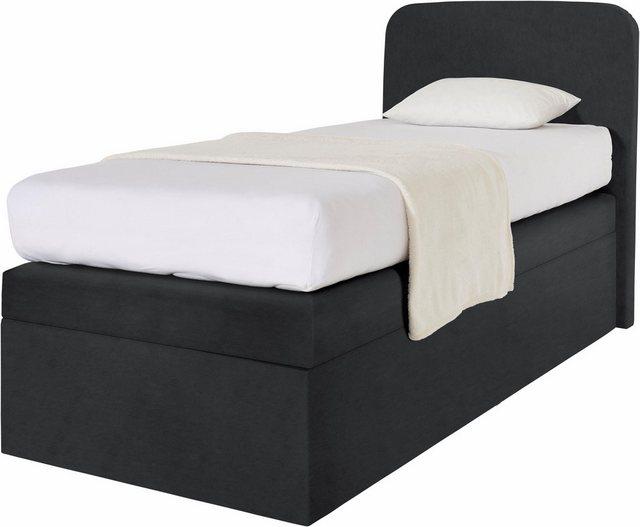 Betten - Westfalia Schlafkomfort Boxbett, wahlweise mit Bettkasten › 105 cm x 212 cm › schwarz  - Onlineshop OTTO