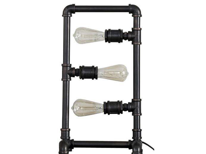 SalesFever Tischlampe 3 Leuchten Industrial Rohr rechteckig »Lea«