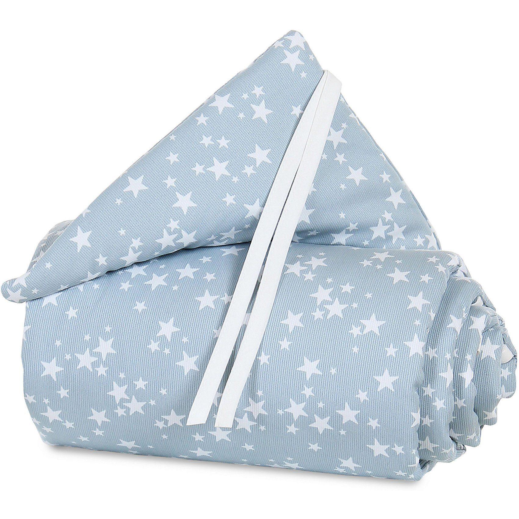 Tobi Nestchen pique für babybay original, azurblau Sterne weiß, 1
