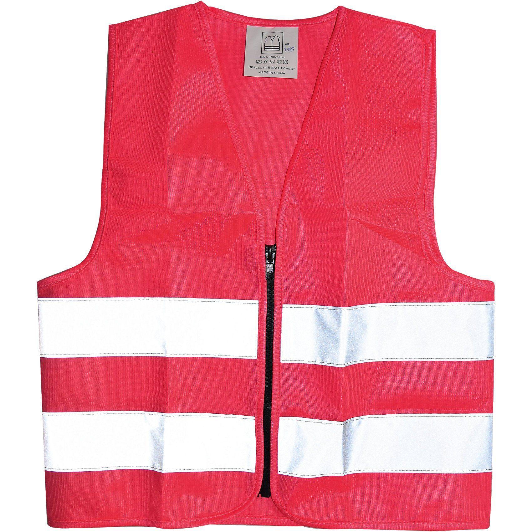 Kaufmann Warnweste für Kinder mit Zipper, rosa