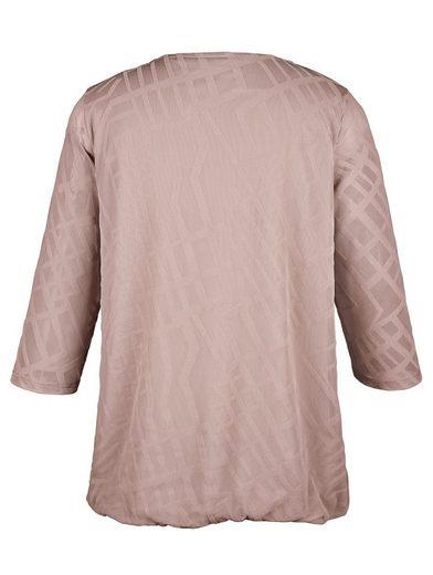 MIAMODA Shirt aus leicht transparenter Ausbrenner Ware