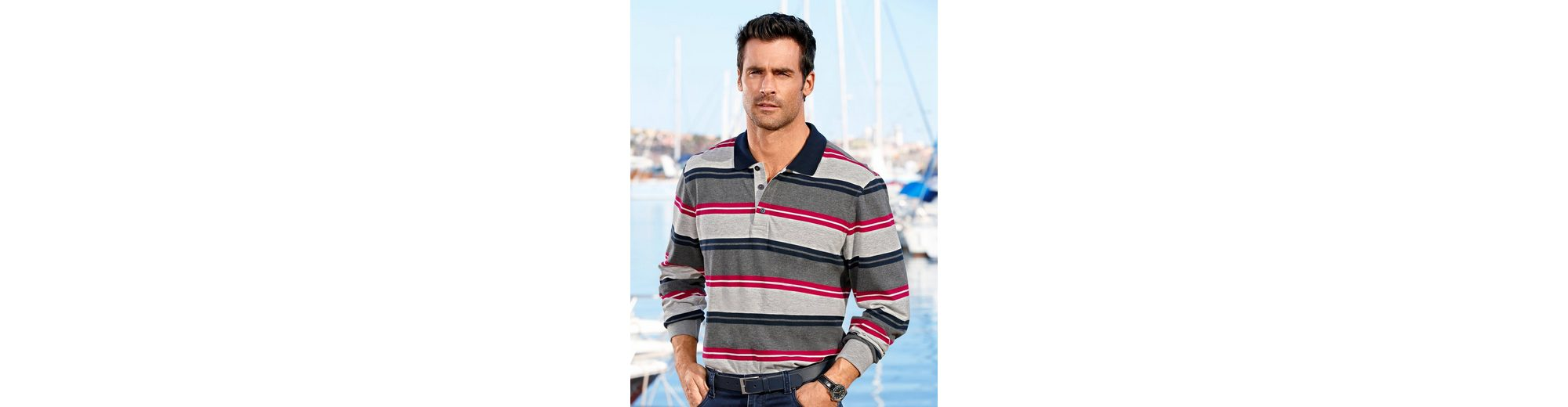 Roger Kent Poloshirt in garngefärbtem Streifenmuster Einkaufen RveJaZA9c