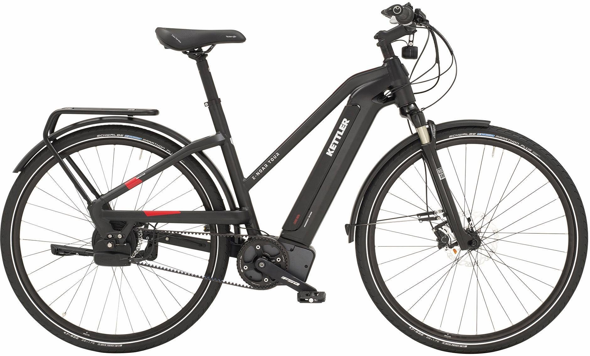 Kettler E-Bike »E - Noar Tour«, Nuvinci N 380 Schaltwerk, Kettenschaltung, Mittelmotor 250 W, NuVinci N 380