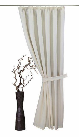 raffhalter gerti vhg gardinen 1 tlg in leinenoptik. Black Bedroom Furniture Sets. Home Design Ideas