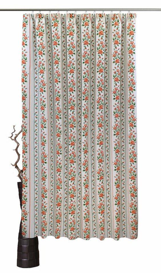 vorhang nach ma chrissi vhg kr uselband 1 st ck leinenoptik rose streifen online. Black Bedroom Furniture Sets. Home Design Ideas
