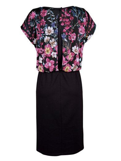Paola Jerseykleid mit Blumendruck