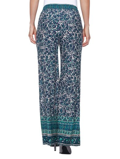Laura Kent Slip Trousers In Floral Dessin