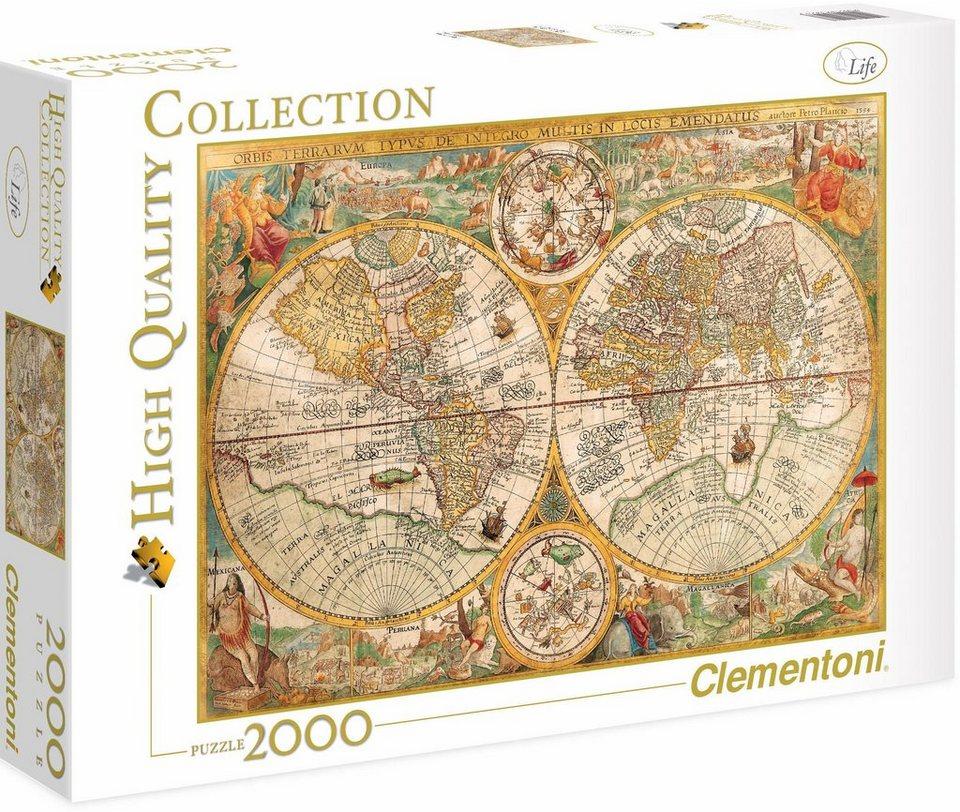 clementoni puzzle 2000 teile museum antike landkarte online kaufen otto. Black Bedroom Furniture Sets. Home Design Ideas