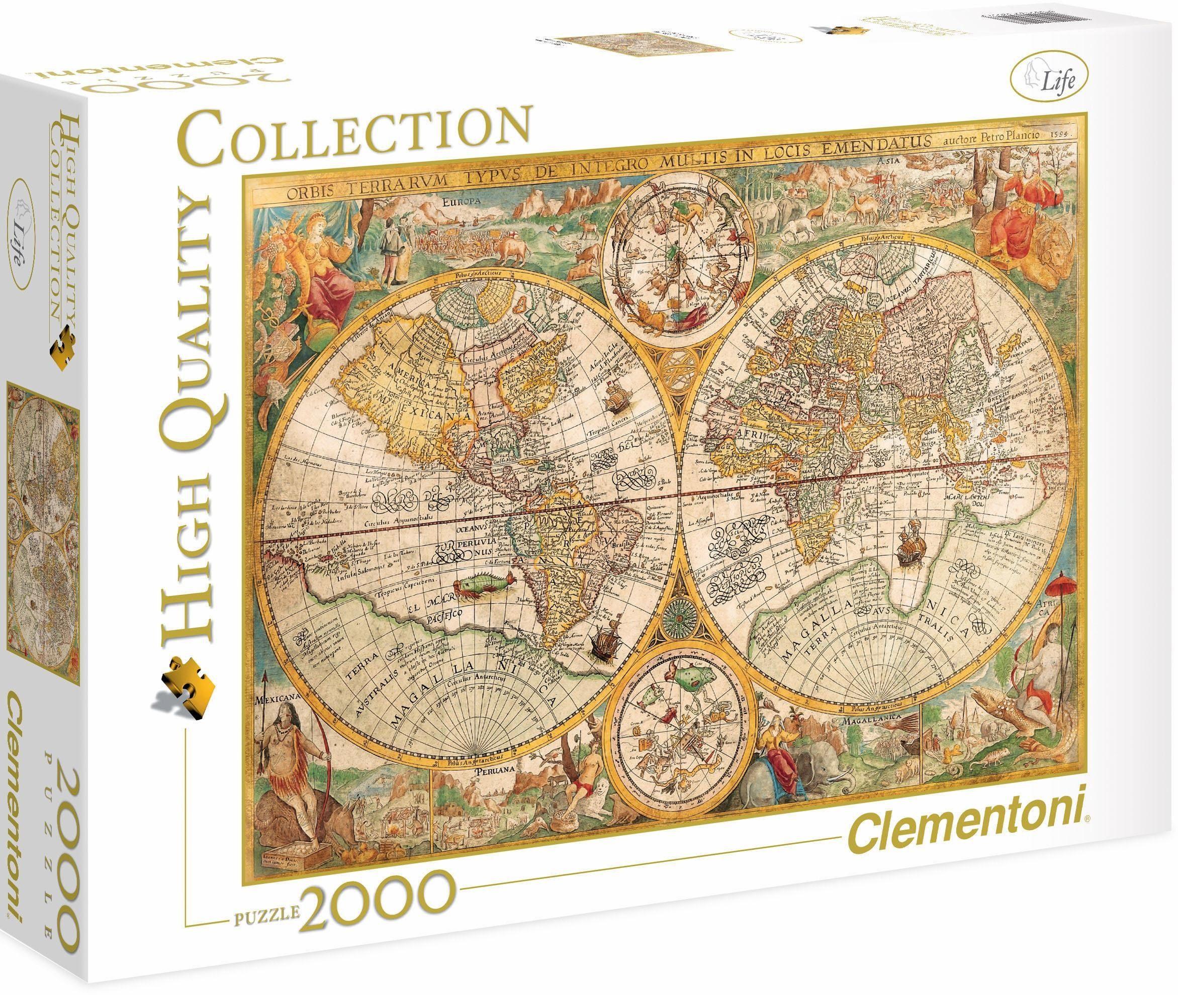 Clementoni Puzzle, 2000 Teile, »Museum Antike Landkarte«