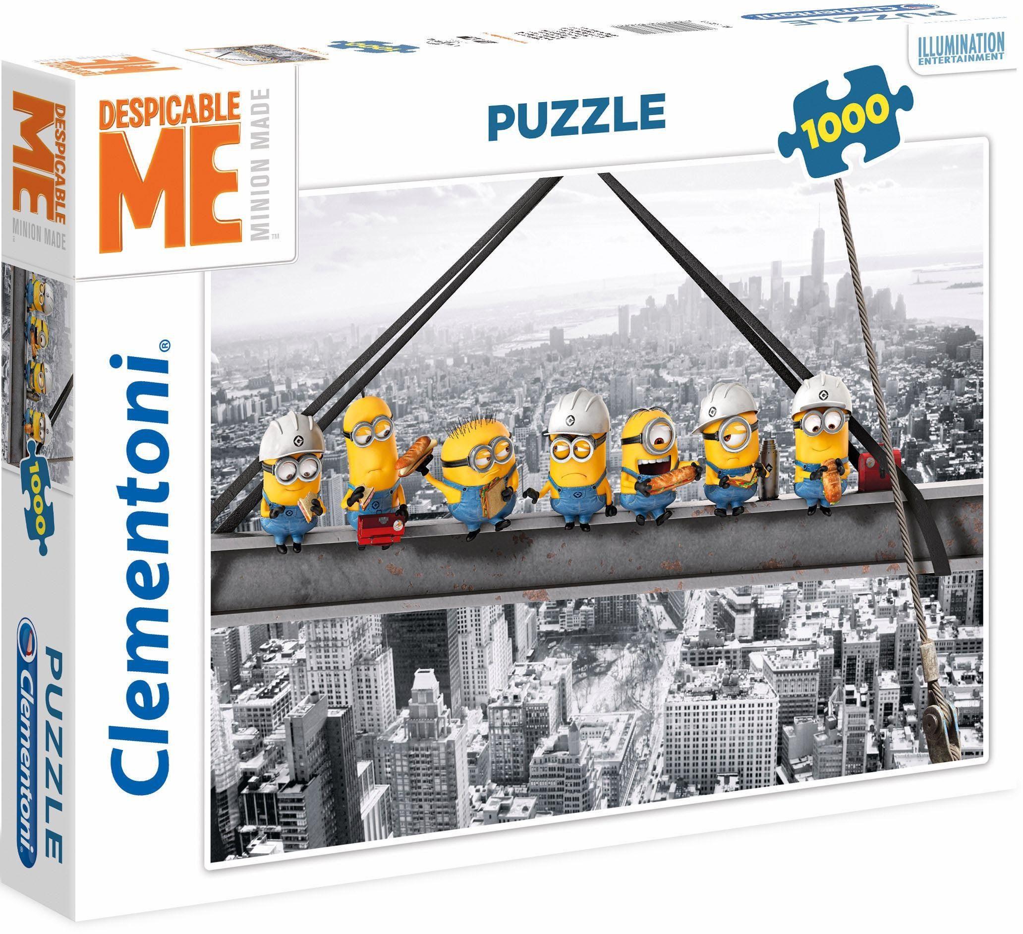 Clementoni Puzzle, 1000 Teile, »Despicable Me, Minions atop a skyscraper«
