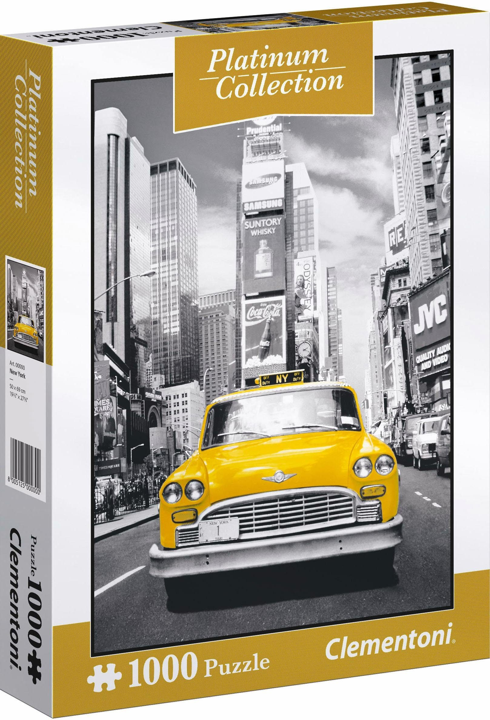 Clementoni Puzzle, 1000 Teile, »New York Taxi«
