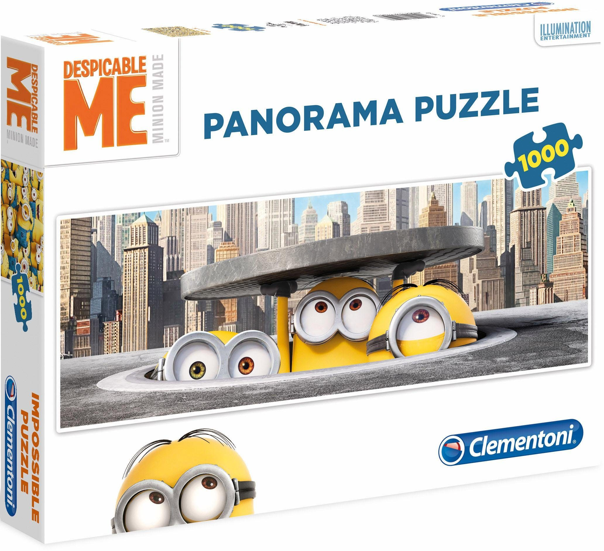 Clementoni Panoramapuzzle, 1000 Teile, »Despicable Me, Minions in New York Panorama«