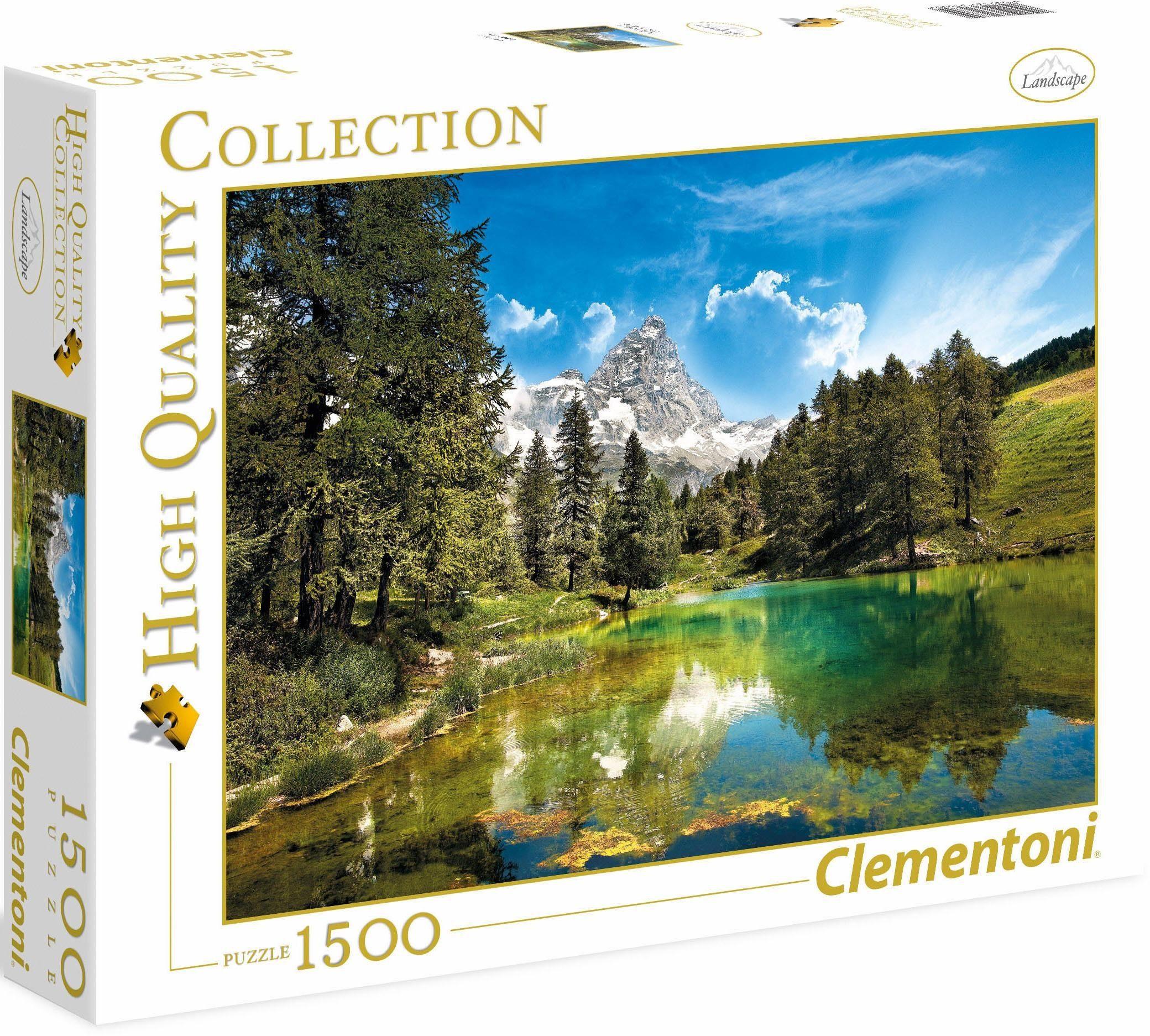 Clementoni Puzzle, 1500 Teile, »Der blaue See«