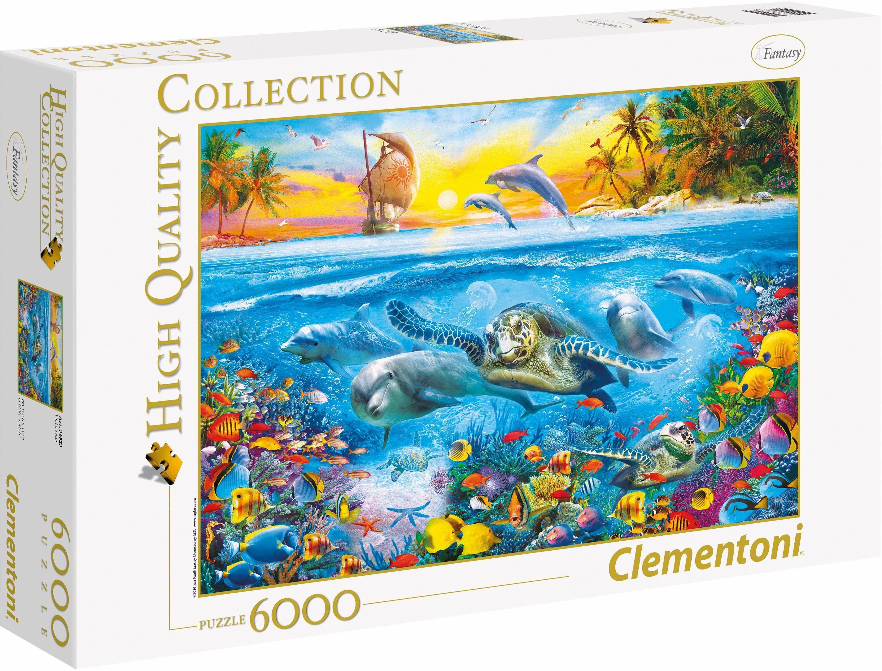 Clementoni Puzzle, 6000 Teile, »Unter Wasser«