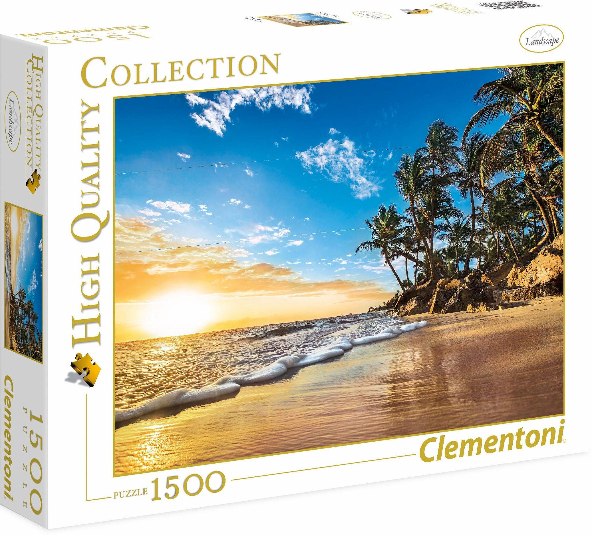 Clementoni Puzzle, 1500 Teile, »Tropischer Sonnenaufgang«