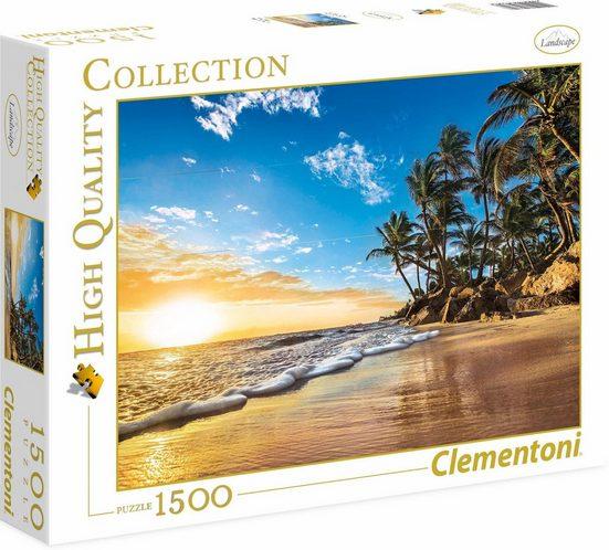 Clementoni® Puzzle »Tropischer Sonnenaufgang«, 1500 Puzzleteile