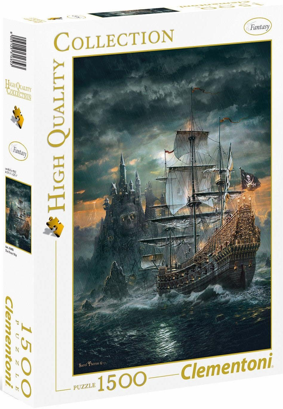Clementoni Puzzle, 1500 Teile, »Das Piratenschiff«