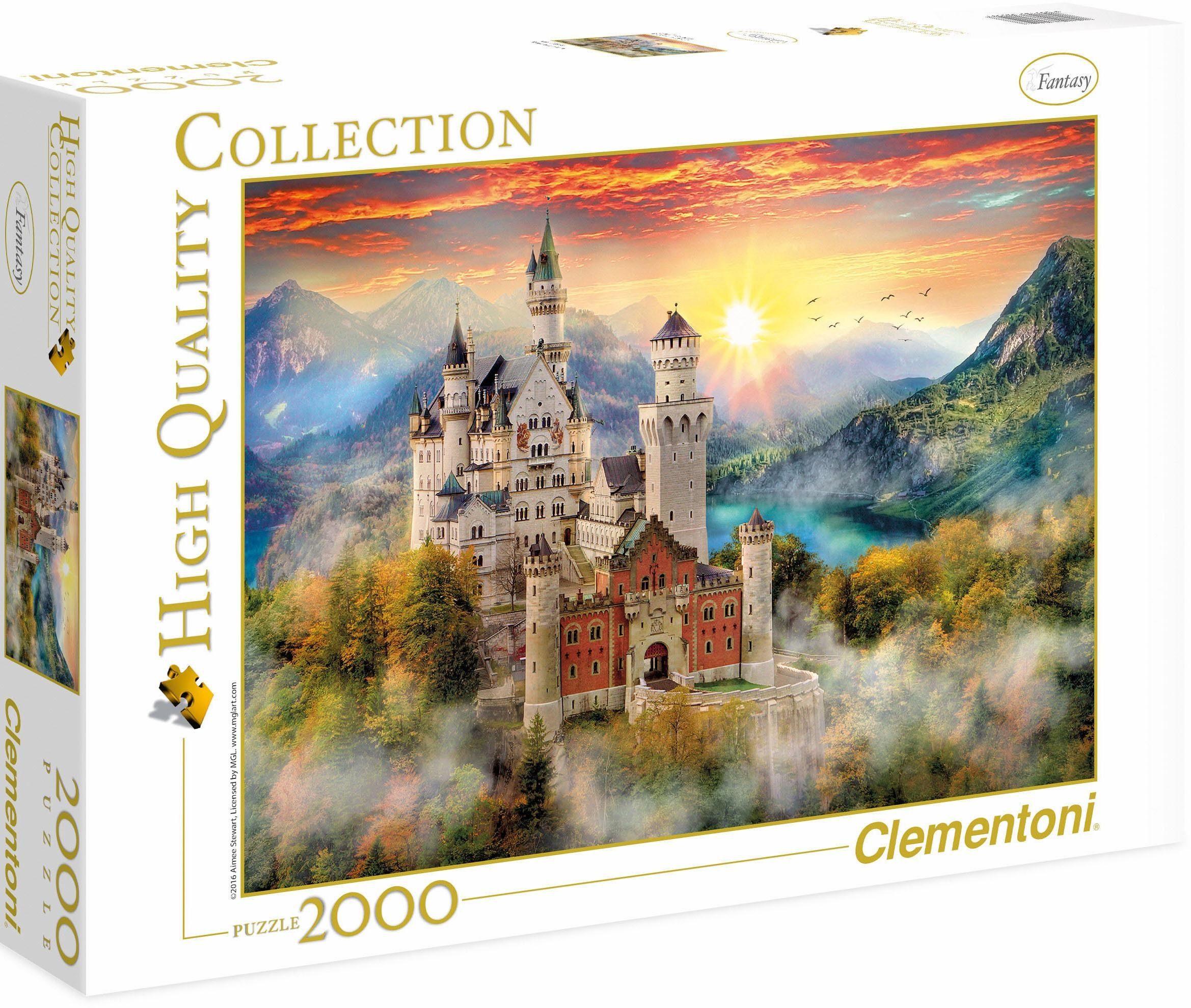 Clementoni Puzzle, 2000 Teile, » Neuschwanstein«