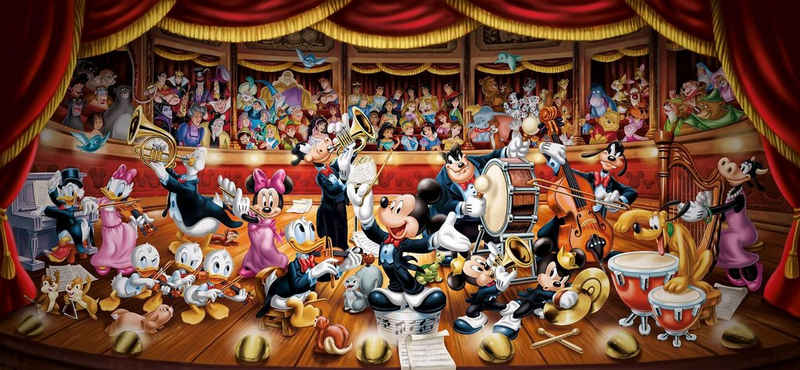 Clementoni® Puzzle »Panorama High Quality Collection - Disney Orchester«, 13200 Puzzleteile, Made in Europe