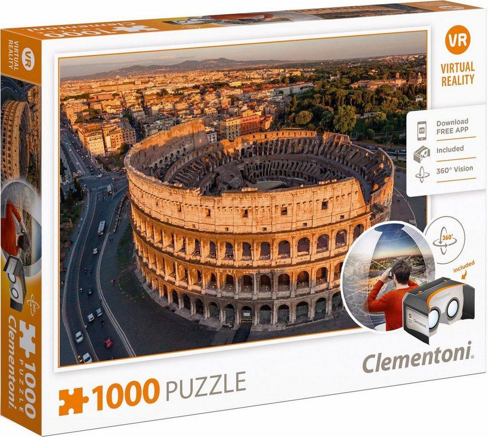 clementoni puzzle 1000 teile rome virtual reality. Black Bedroom Furniture Sets. Home Design Ideas