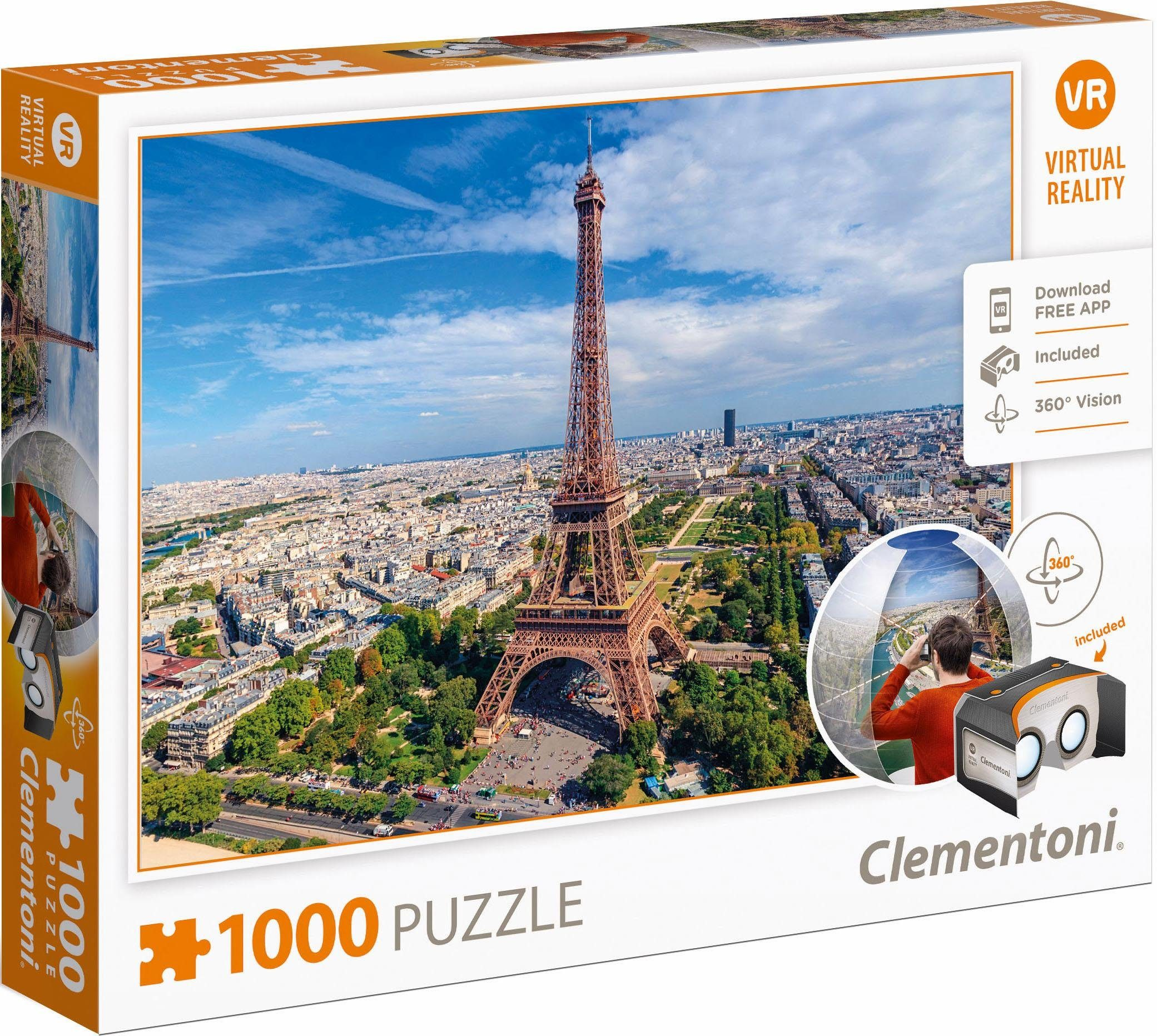 Clementoni Puzzle, 1000 Teile, »Paris, Virtual Reality«