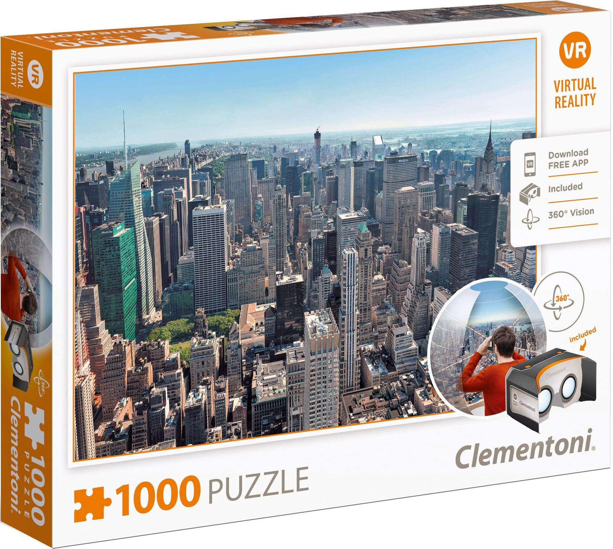 Clementoni Puzzle, 1000 Teile, »New York, Virtual Reality«