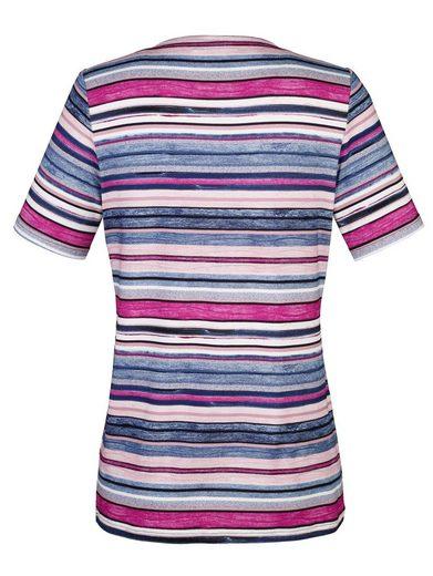 Paola Shirt mit besonderem Streifendessin