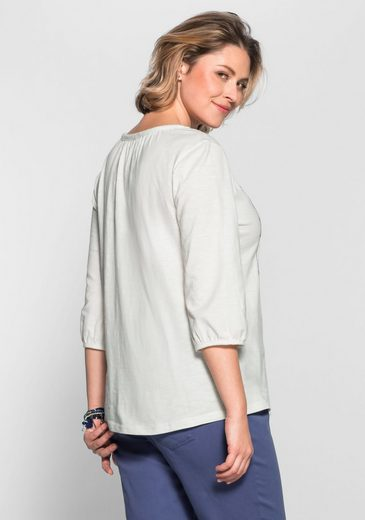sheego Casual 3/4-Arm-Shirt, mit Druck