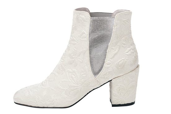 Heine Ankle Boot With Floral Dessin