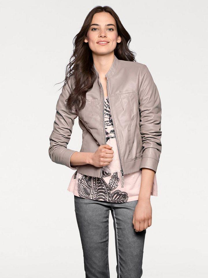 heine CASUAL Lederjacke mit Taschen online kaufen   OTTO 7734d51590
