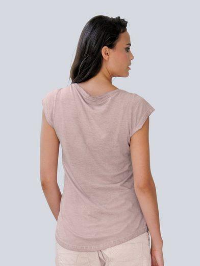 Alba Moda Oil-Washed-Shirt mit Ananasmotiv