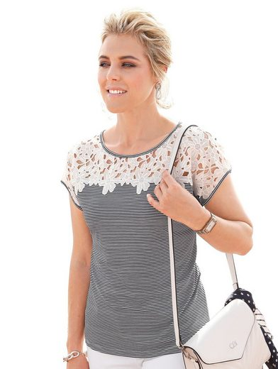 Mona Shirt With Lace And Braid
