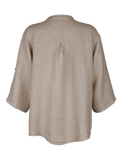 Alba Moda Hemdbluse aus reinem Leinen Reines Leinen