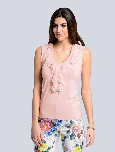 Alba Moda Shirt mit Rüschenvolants