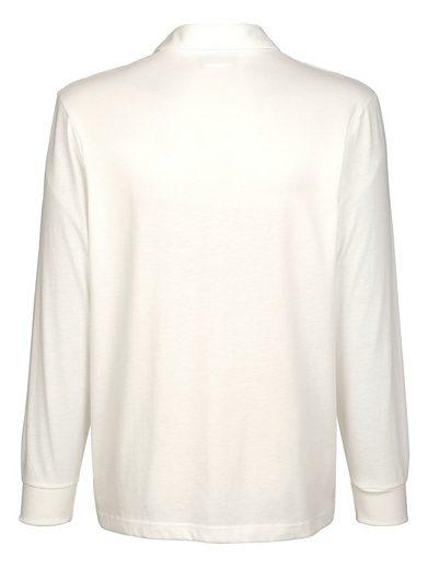 Roger Kent Poloshirt mit Druckmuster im Vorderteil