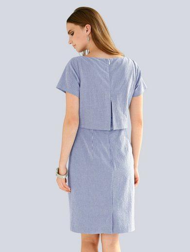 Alba Moda Kleid aus Seersucker-Qualität