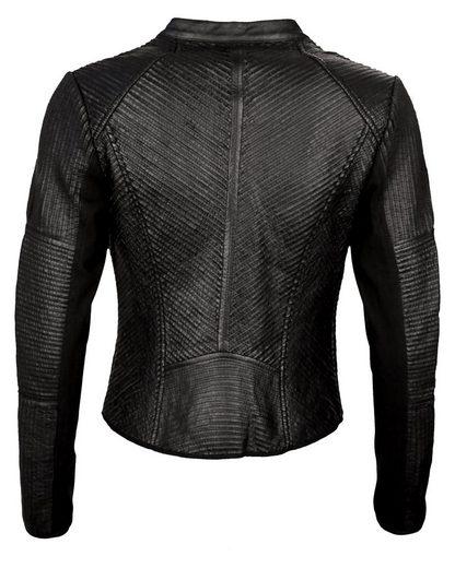 MAZE Biker-Lederjacke aus Premium-Stretch-Leder Esmeraldes