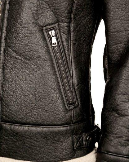 MAZE Jacke aus Lederimitat und Teddyfell Solara