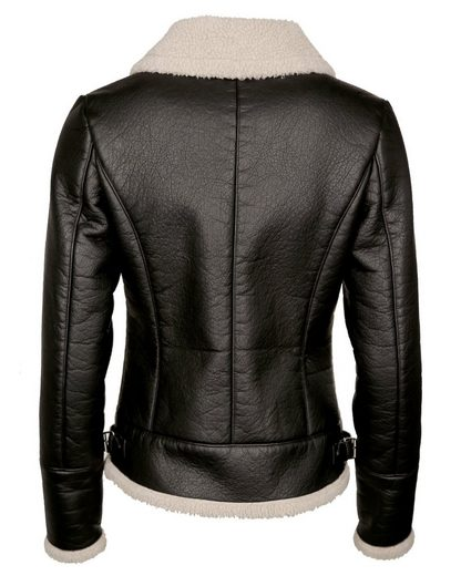 Maze Jacket Made Of Faux Leather And Fur Teddy Solara