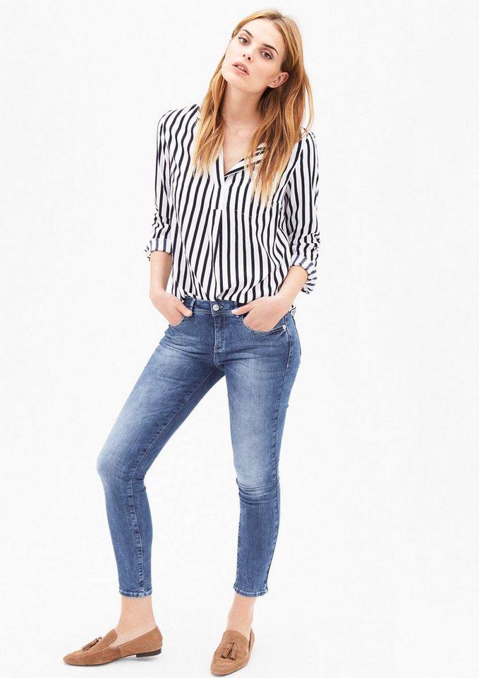 s.Oliver BLACK LABEL Sienna Slim: Jeans mit Waschung