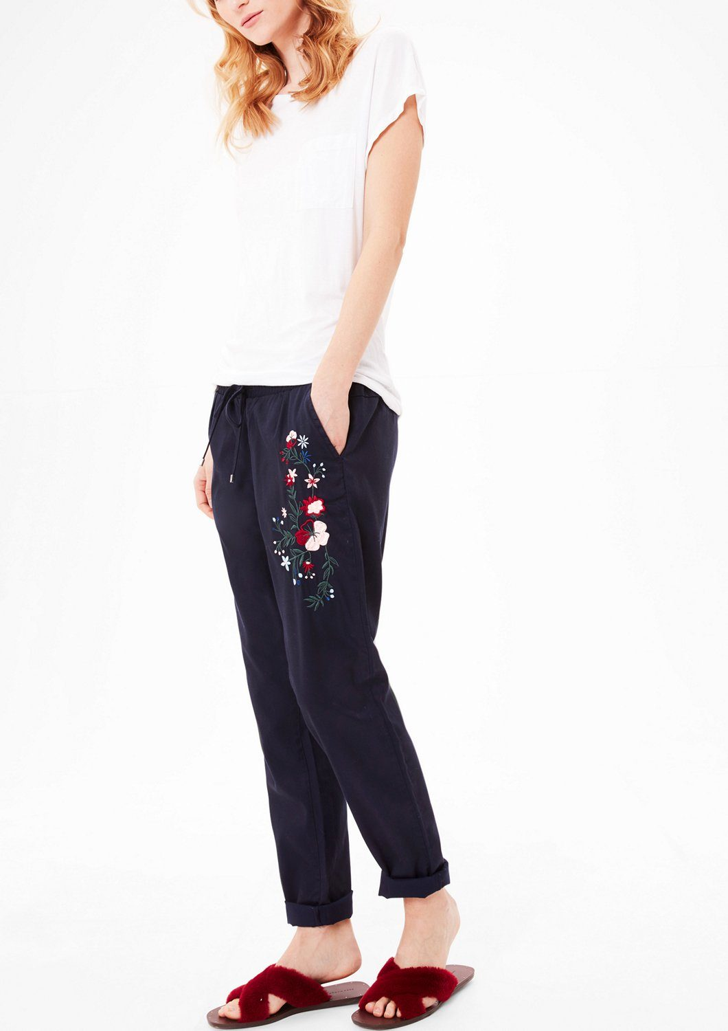 s.Oliver RED LABEL Jogging Pants mit Embroidery