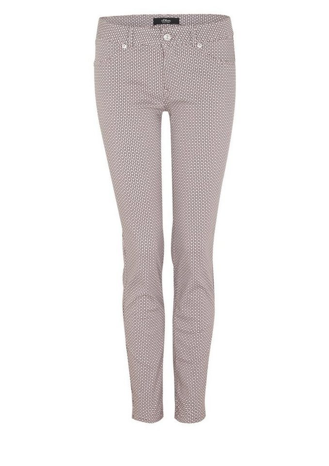 s.Oliver BLACK LABEL Sienna Slim: Hose aus Satin
